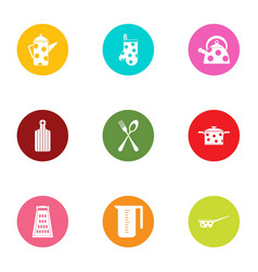 Dote icons set flat style vector
