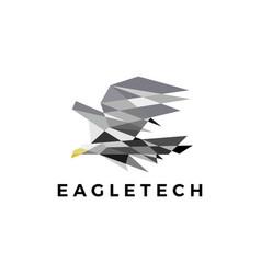 eagle technology geometric polygonal logo icon vector image