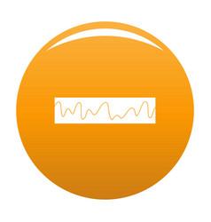 Equalizer sonic icon orange vector