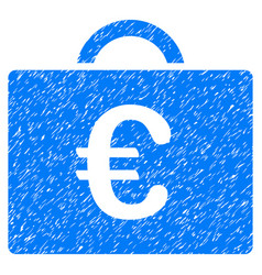 Euro bookkeeping case grunge icon vector