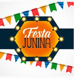 Festa junina celebration light bulbs decoration vector