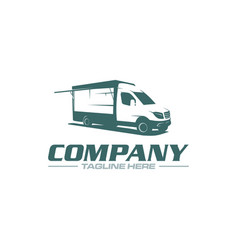 food truck logo vector image