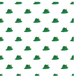 german green hat pattern seamless vector image