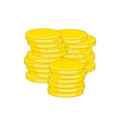 Gold coins icon cartoon style vector