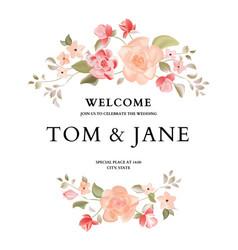 hand-drawn botanical wedding invitation card vector image