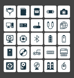Hardware icons set collection of router camera vector