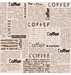 Imitation of newspaper with the inscription coffee vector