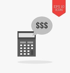 Income calculation concept icon Flat design gray vector