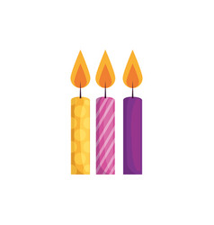 Isolated party candles design vector