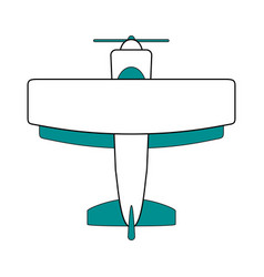 isolated plane design vector image