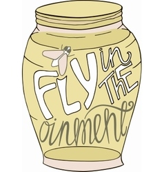 Jar in doodle style Sketch with inspiration vector image