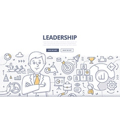 Leadership Doodle Concept vector image
