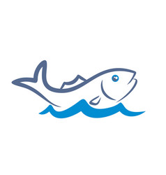 Logo fish with wave vector
