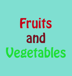Logo for fruits and vegetables sign for organic vector