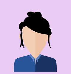 Messy hair business women portrait vector
