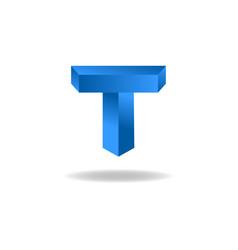 Mockup logo T letter graphic emblem template vector image