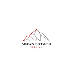 mount stats statistics logo icon vector image