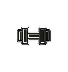 muscle lifting icon fitness barbell gym vector image