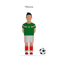 National football player Mexico soccer team vector image