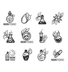 Non-toxic hypoallergenic eco friendly bold black vector