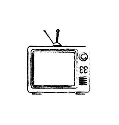 Old tv isolated icon vector