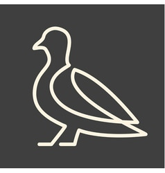 One line pigeon vector