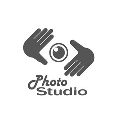 photography logo design template retro vector image