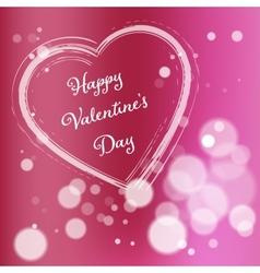 Pink Valentine Day Postcard vector image