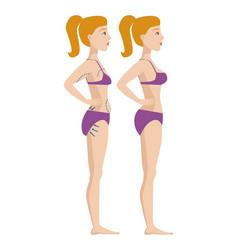 Plastic surgery body parts woman correction vector