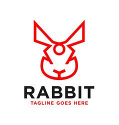 Rabbit head inspiration logo outline vector