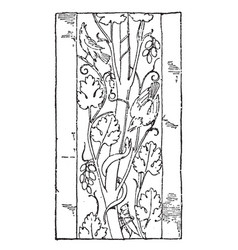 Roman ornament vine is used as a vertical border vector