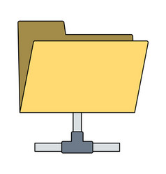 Shared folder icon vector