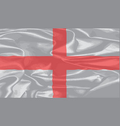 silk flag of england and saint george vector image