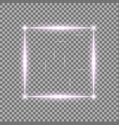 square with light effects laser sparks purple vector image
