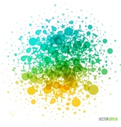 Summer in abstract style Dotted splash of vector