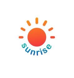 Sunshine sunrise logo on white background vector