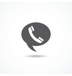 Telephone on word bubble speech vector