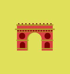 Triumphal arch architecture vector