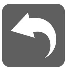 Undo Flat Squared Icon vector