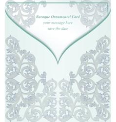 Vintage Baroque envelope Invitation card Imperial vector