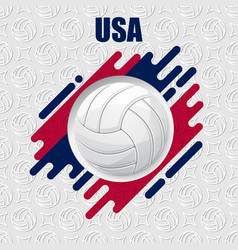 volleyball usa background vector image