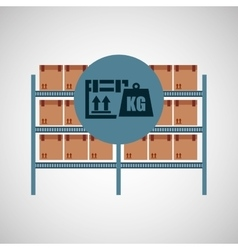 warehouse box weight icon design vector image