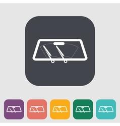 Wiper car single icon vector