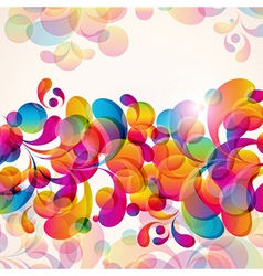 Abstract background with bright elements vector image