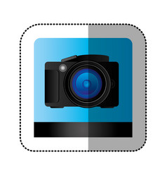 black studio professional camera icon vector image