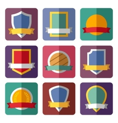 coats of arms shields ribbons vector image