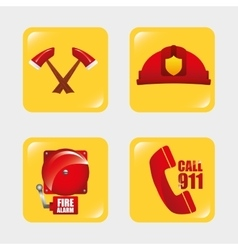 firefighter tools vector image vector image