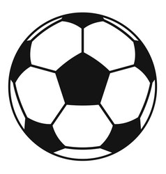 football or soccer ball icon simple style vector image vector image