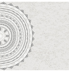 Grunge circle ornament with tribal motifs vector image vector image