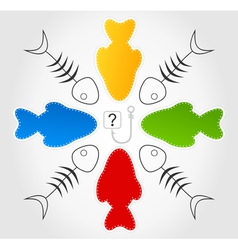 Question of fishes vector image